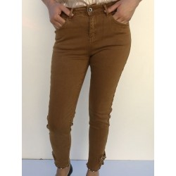 Pantalon camel slim nœud...