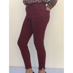 Pantalon nœud et strass